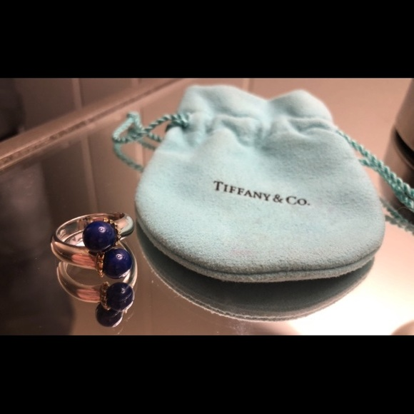 4c5131951 Tiffany & Co. Jewelry | Tiffany Co Lapis Bypass Ring Silver W18k ...